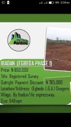 Land for sale . Egbeda Oyo