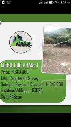 Land for sale . Ijebu Ode Ijebu Ogun