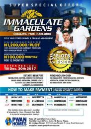 Residential Land Land for sale Omagwa Port-harcourt/Aba Expressway Port Harcourt Rivers