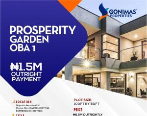Joint   Venture Land Land for sale Behind prestigious Grundvit polythecnic institute and Opp. Anambra  State international Market by Owerri Road Idemili south Anambra