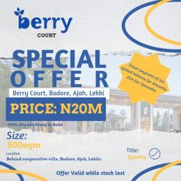 Land for sale Badore Ajah, Behind Cooperative Villa Badore Ajah Lagos