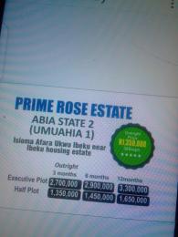 Residential Land Land for sale Isioma afara ukwu ibeku near ibeku housing estate Umuahia North Abia