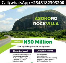 Residential Land Land for sale Asokoro Rock Villa Apo Abuja