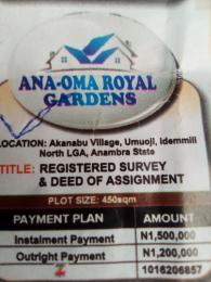 Serviced Residential Land Land for sale Akanabu village, Umuojli idemmili north LGA Idemili North Anambra