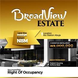 Residential Land Land for sale Idu station Idu Abuja