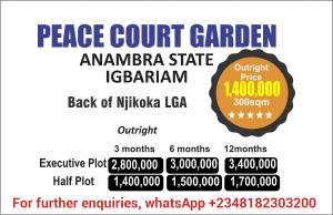 Residential Land Land for sale Igbariam Njikoka Anambra
