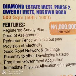 Serviced Residential Land Land for sale Irete Ndegwu Road  Owerri Imo