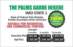 Residential Land Land for sale Back of Federal Poly Nekede, beside Assumpta Minor Seminary  Owerri Imo