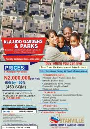 Land for sale Onitsha owerri road ogbaku by winners chapel camp site Owerri Imo