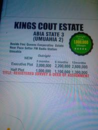Mixed   Use Land Land for sale Beside FMC Queens corporate estate near pace setter FM  Umuahia South Abia