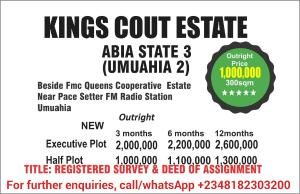 Residential Land Land for sale Behind FMC, Queens cooperative estate, Near Pace FM Radio Station, Umuahia Umuahia North Abia
