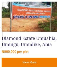 Residential Land Land for sale Umuigu, umudike, Umuahia  Umuahia North Abia