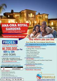Serviced Residential Land Land for sale Anaoma royal garden umuoji anambara state Anambra Anambra
