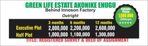 Residential Land Land for sale Akonike Enugu Enugu