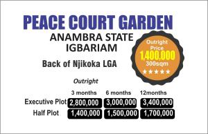Serviced Residential Land Land for sale Igbariam,  Back Njikoka LGA Njikoka Anambra