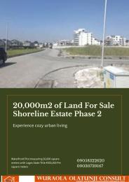 Land for sale Shoreline Estate Phase 2 Bourdillon Ikoyi Lagos