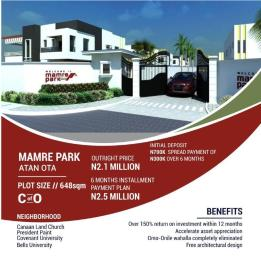Land for sale Mamre Park Estate is about 5 minutes drive from Covenant University, 7 minutes drive from The Bell University and situated within the corridor of Faith Thearter Canaanland.  Ado Odo/Ota Ogun