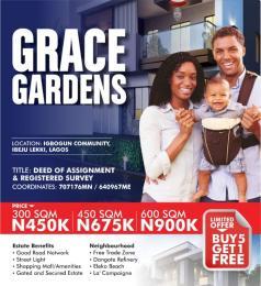 Residential Land Land for sale Igbogun Community  Ikegun Ibeju-Lekki Lagos