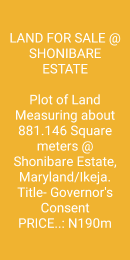 Residential Land Land for sale Shonibare estate Shonibare Estate Maryland Lagos