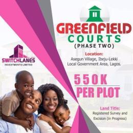 Residential Land Land for sale Asegun village ibeju lekki  Ibeju-Lekki Lagos