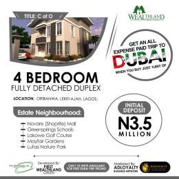 4 bedroom Detached Duplex House for sale Wealthlands Estate Oribanwa Ibeju-Lekki Lagos