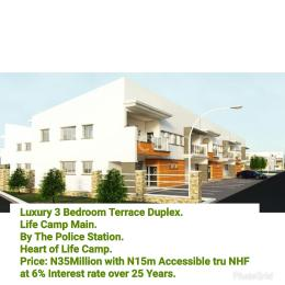 3 bedroom Terraced Duplex House for sale by the police station, heart of life camp Life Camp Abuja