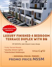 4 bedroom Terraced Duplex House for sale PP Estate Airport rd  Jabi Abuja