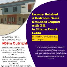 4 bedroom Semi Detached Duplex House for sale Chevron Drive, Lekki, Lagos. chevron Lekki Lagos