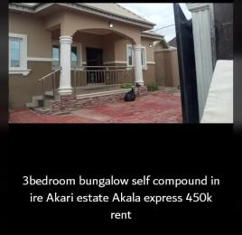 3 bedroom Detached Bungalow House for rent Ire Akari estate Akala Express Ibadan Oyo