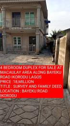 4 bedroom Detached Duplex House for sale MACAULAY AREA BAYEKU  Igbogbo Ikorodu Lagos