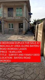 4 bedroom Detached Duplex House for sale MACAULAY AREA BAYEKU  Igbogbo Ikorodu Lagos