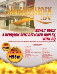 4 bedroom Semi Detached Duplex House for sale Osapa London, Lekki, Lagos. Before Agungi, Igbo Efon and few minutes before Chevron Osapa london Lekki Lagos