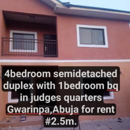 4 bedroom Semi Detached Duplex House for rent 69th road,Gwarinpa-Abuja. Gwarinpa Abuja