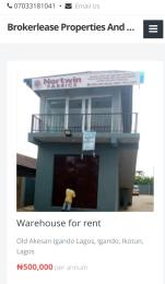 Warehouse Commercial Property for rent Old Akesan Road Igando Ikotun Lagos Igando Ikotun/Igando Lagos