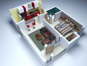 1 bedroom mini flat  Mini flat Flat / Apartment for sale Fairfield Apartments, Abijo Abijo Ajah Lagos