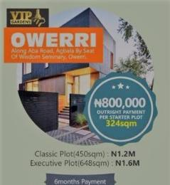 Land for sale Owerri, Along Aba Road Owerri Imo