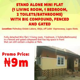 1 bedroom mini flat  Detached Duplex House for sale Pamsbay estate labora abijo  Off LEKKI expressway Lagos Lekki Lagos