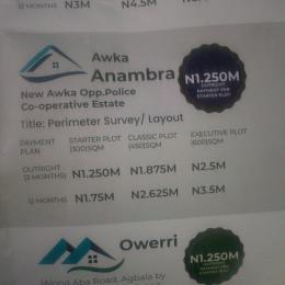 Land for sale New Awka Opp. Police. Co- operative Estate Awka North Anambra