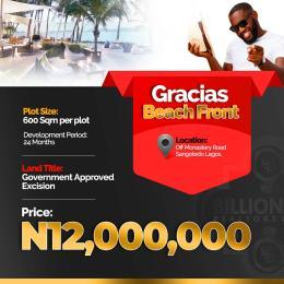 Residential Land Land for sale Gracias Beachfront Sangotedo Ajah Lagos