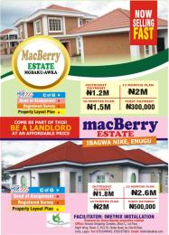 Residential Land Land for sale Mackberry Estate Ibagwa Nike  Enugu Enugu