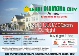 Residential Land Land for sale LEKKI DIAMOND CITY ANNES,ELERANGBE IBEJU-LEKKI Eleranigbe Ibeju-Lekki Lagos
