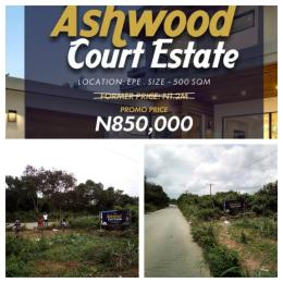 Land for sale Ashwood Estate is few mins drive from St Augustine University in Ignonla Road, Epe Lagos Nigeria Epe Lagos - 0