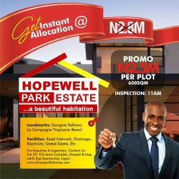 Land for sale Hopewell Park Estate esort.  LaCampaigne Tropicana Ibeju-Lekki Lagos - 2