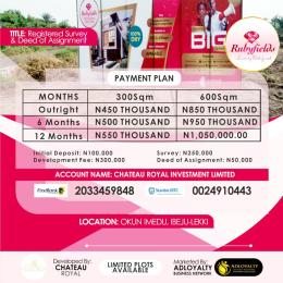 Land for sale Okunraiye Ibeju-Lekki Lagos