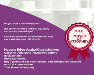 Residential Land Land for sale Ogwashukwu Aniocha South Delta