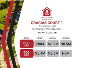 Residential Land Land for sale Gracias Courts Monastery road Sangotedo Lagos