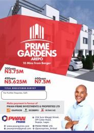 Land for sale Prime Gardens, Arepo is 10 mins from Berger, off the Lagos Ibadan Expressway.  Arepo Arepo Ogun