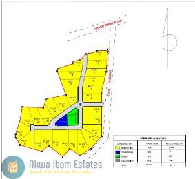 Land for sale 'New Uyo', Ibiaku, Airport road Uyo Akwa Ibom