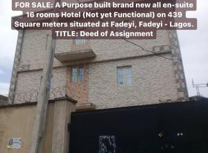 10 bedroom Hotel/Guest House Commercial Property for sale Fadeyi Shomolu Lagos