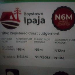Land for sale Boystown ipaja Boys Town Ipaja Lagos